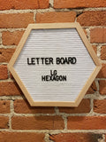 Large White Hexagon Letter Board
