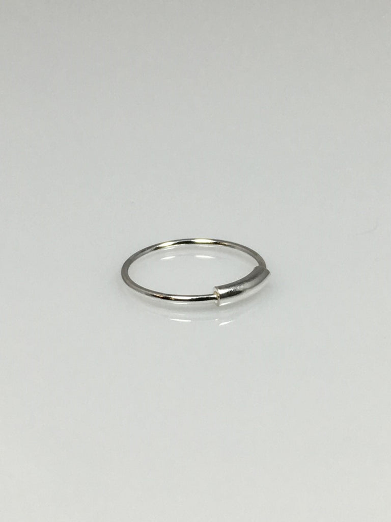 d band silver shaped ring sterling index rings plain