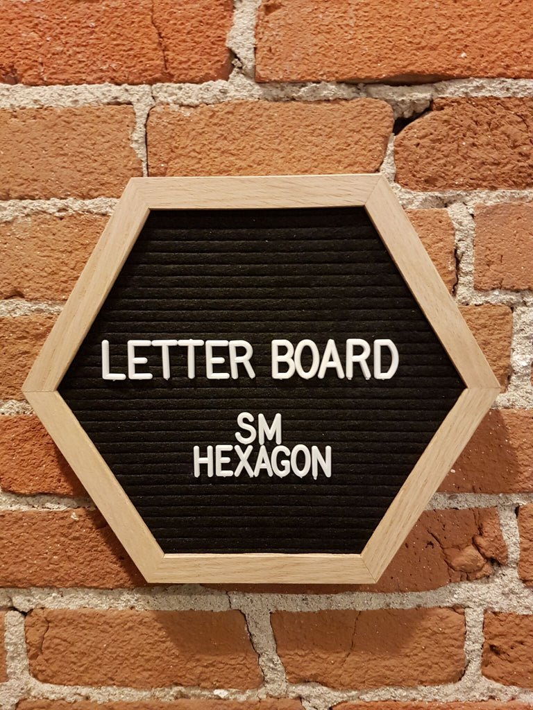 Small Black Hexagon Letter Board