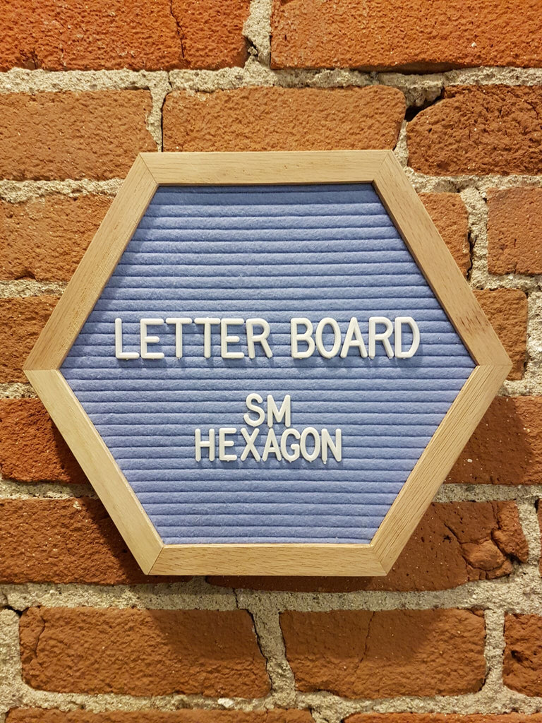 Small Blue Hexagon Letter Board