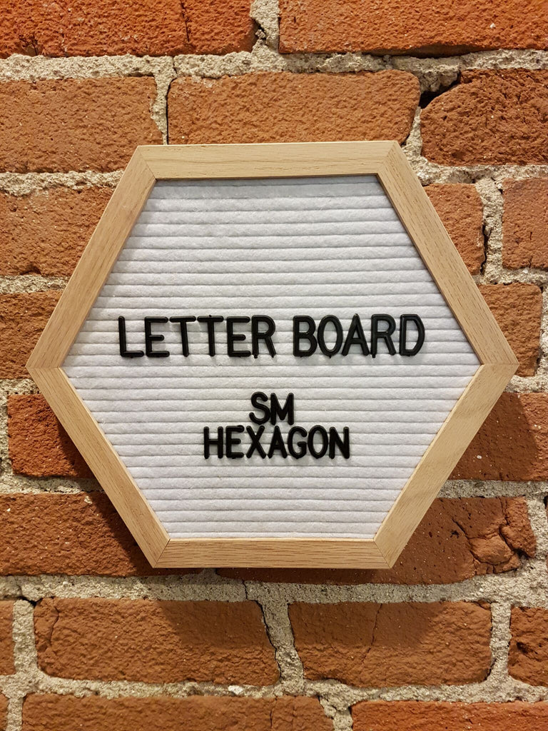 Small White Hexagon Letter Board