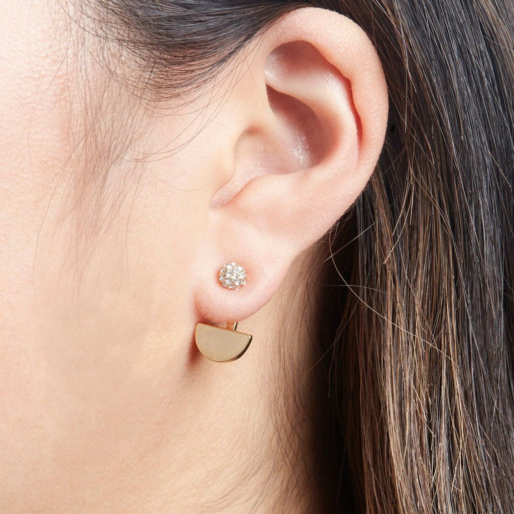 Moon Ear Jacket Silver