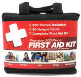 300 Piece (40 Unique Items) First Aid Kit w/Bag
