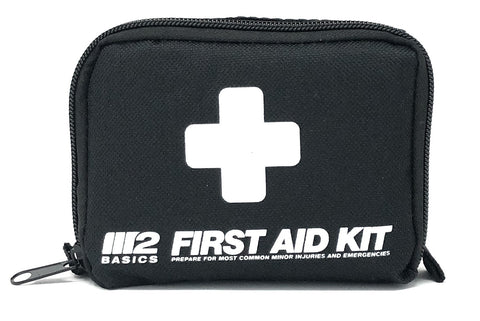 150 Piece First Aid Kit w/Compact Bag, Carabiner, Emergency Blanket