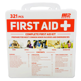 321 Piece Premium First Aid Kit w/Hard Case