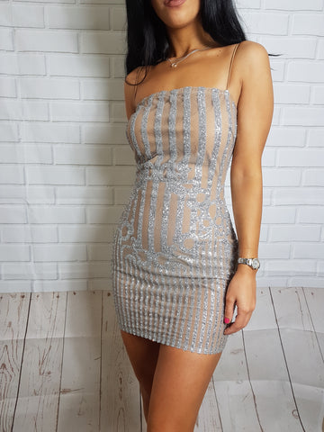 ' ALL THAT SPARKLE ' Glitter Mini Dress