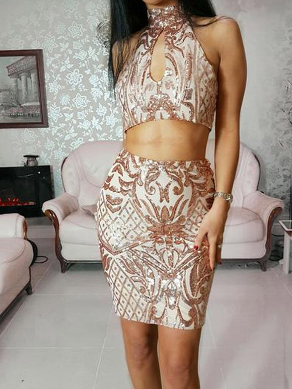 ' ANNABELLE ' Sequin Two Piece - ROYA COLLECTION