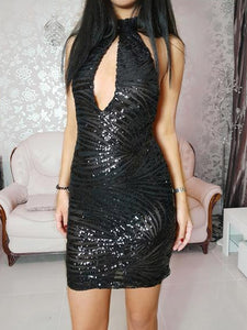 ' DARK SIDE ' Sequin Dress - ROYA COLLECTION