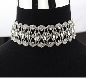 Crystal Choker - Silver Diamond - ROYA COLLECTION