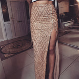 ' SAYEH' Sequin Skirt - Gold - ROYA COLLECTION