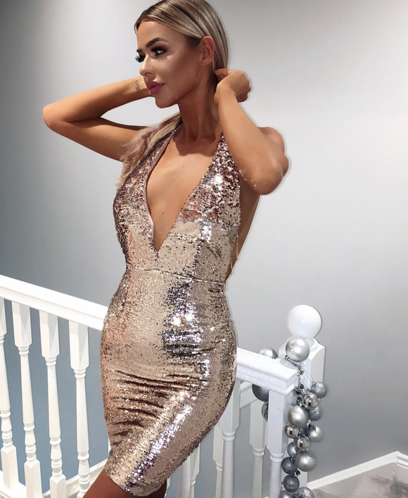 ' HALIA ' Sequin Dress - ROYA COLLECTION