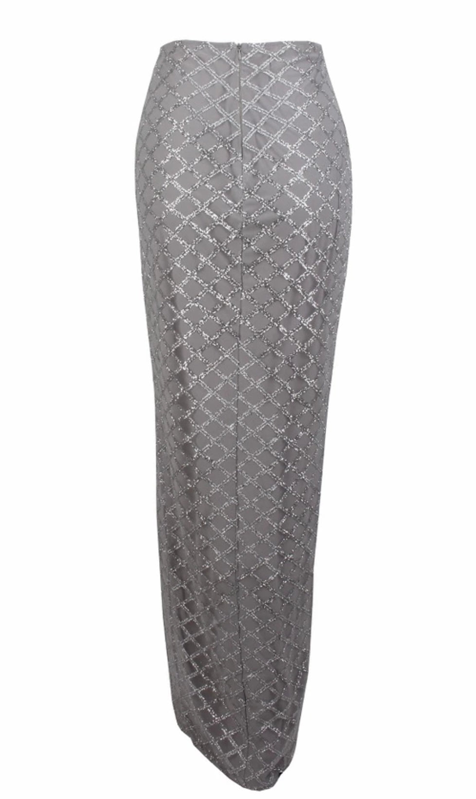 ' SAYEH' Sequin Skirt - Silver