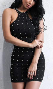 ' PAYI' Black Beaded Dress - ROYA COLLECTION