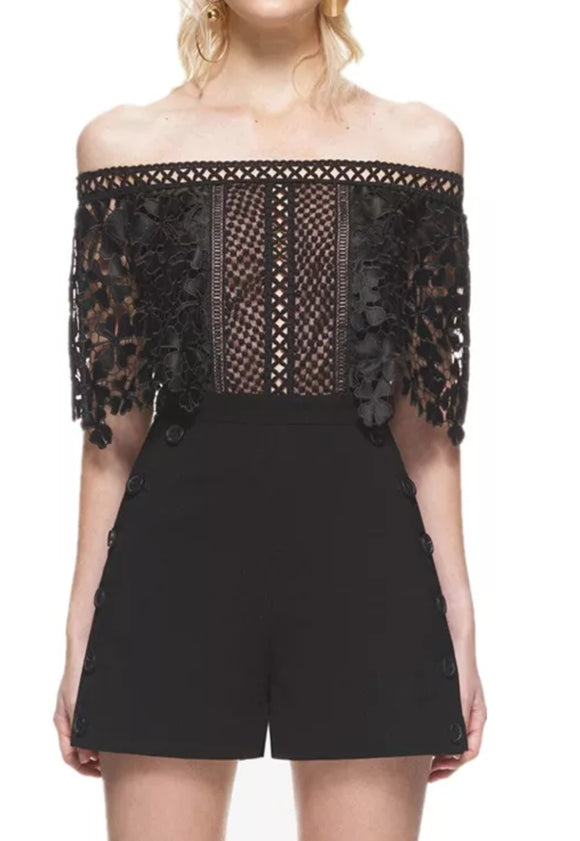 ' MARCO' Lace Playsuit - ROYA COLLECTION