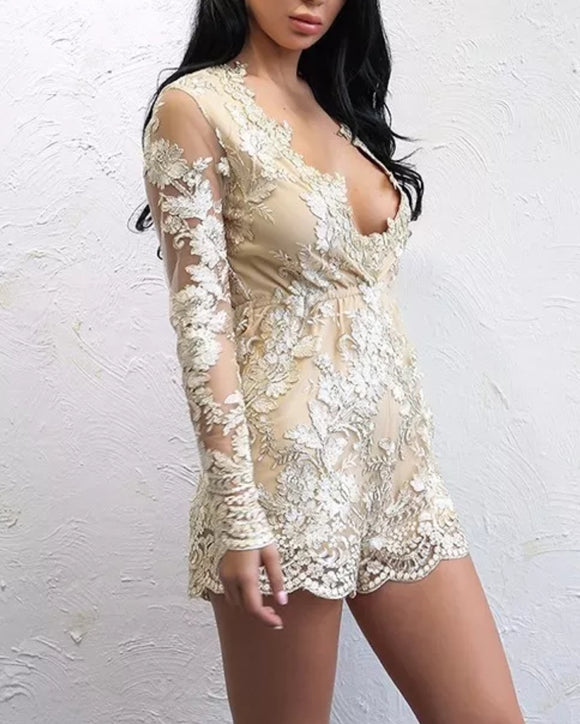 ' TANIA' Lace Playsuit - ROYA COLLECTION