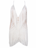 ' ANGEL FALLS ' Fringe dress - White - ROYA COLLECTION