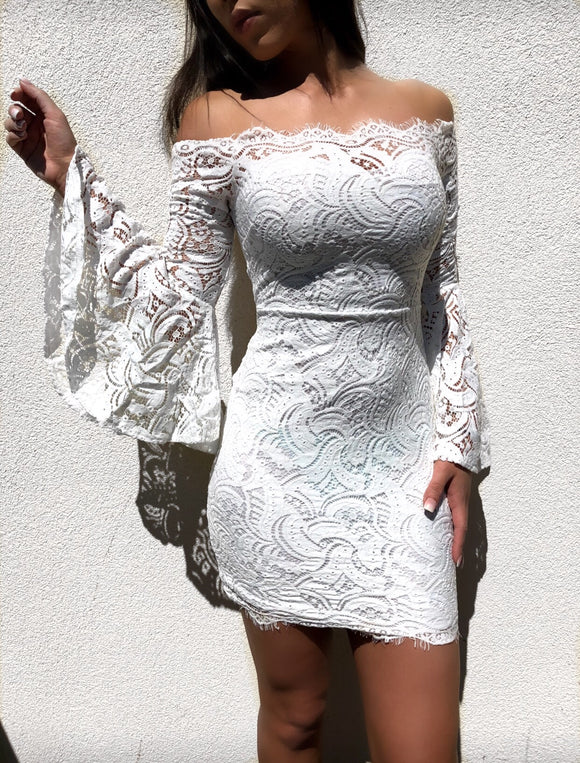 'SYROS' Lace Dress
