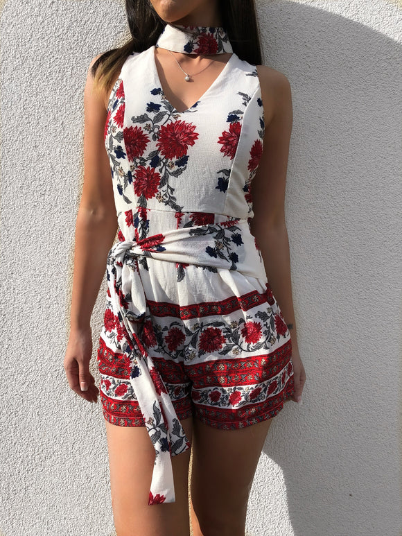 'YAHKY' Floral Playsuit - ROYA COLLECTION