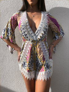 'RAVIA' Printed Playsuit - ROYA COLLECTION