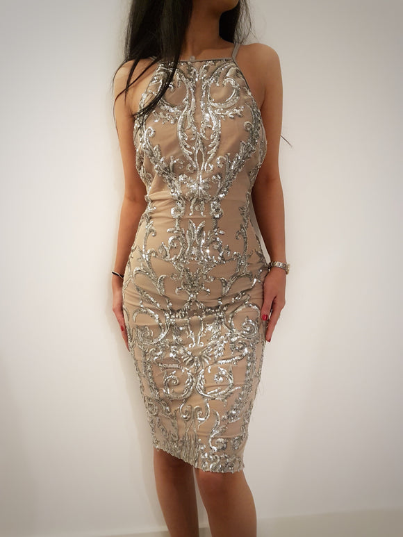 ' DIAMOND GLAM ' Sequin Dress - ROYA COLLECTION