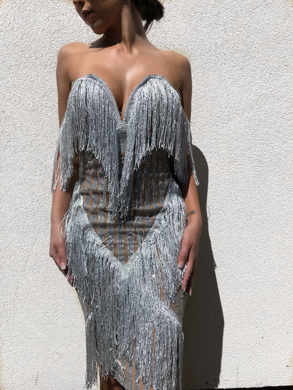 ' DICHO' Tassel Sequin Dress - ROYA COLLECTION