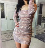 FRENCHIE Stretchy Dress - Champagne - ROYA COLLECTION