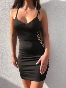 'TYGA' Lace Up Dress - ROYA COLLECTION