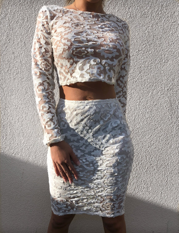 'KEDA' Lace Two Piece - ROYA COLLECTION