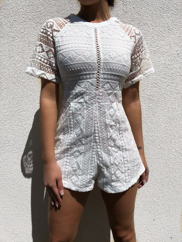 ' DELA' Lace Playsuit - ROYA COLLECTION