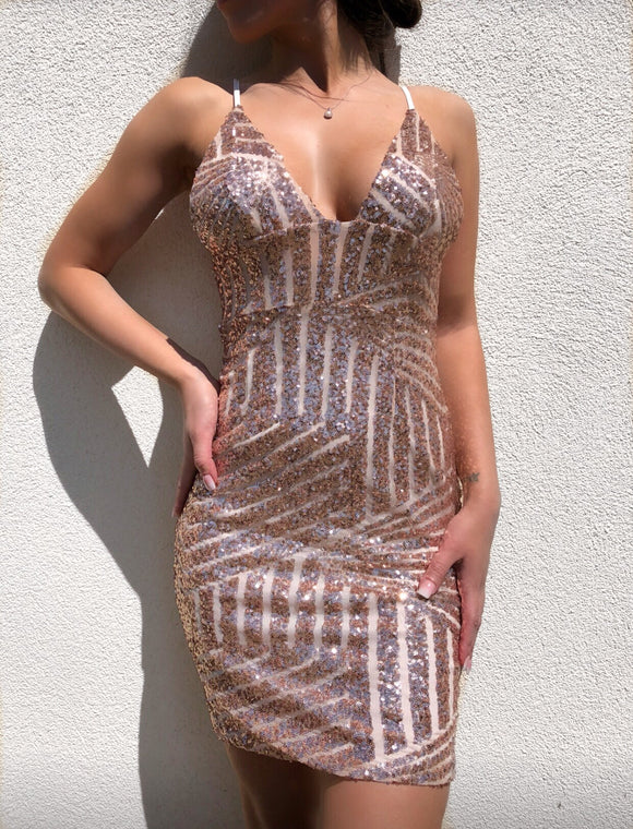' BARFKI ' Sequin Dress - ROYA COLLECTION