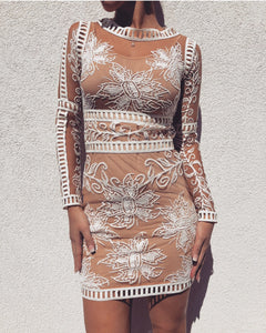 'NYKOS' Lace Dress