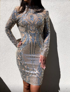 ' SATY ' Sequin Dress - ROYA COLLECTION