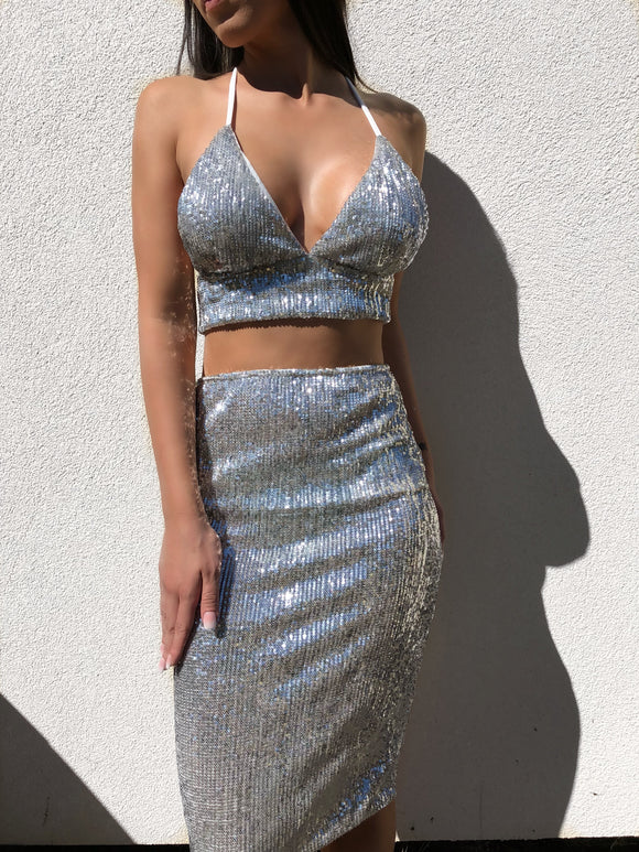 ' ABBY ' Sequin Two Piece - ROYA COLLECTION