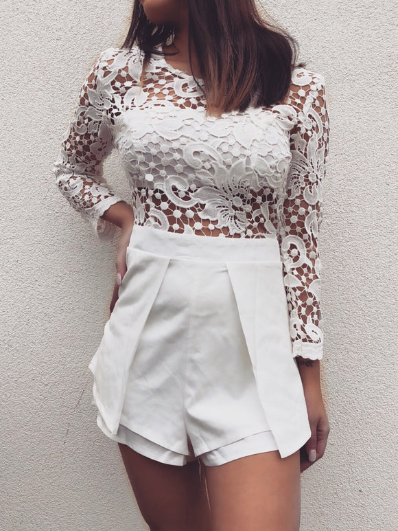 'PATAYA' Lace Playsuit