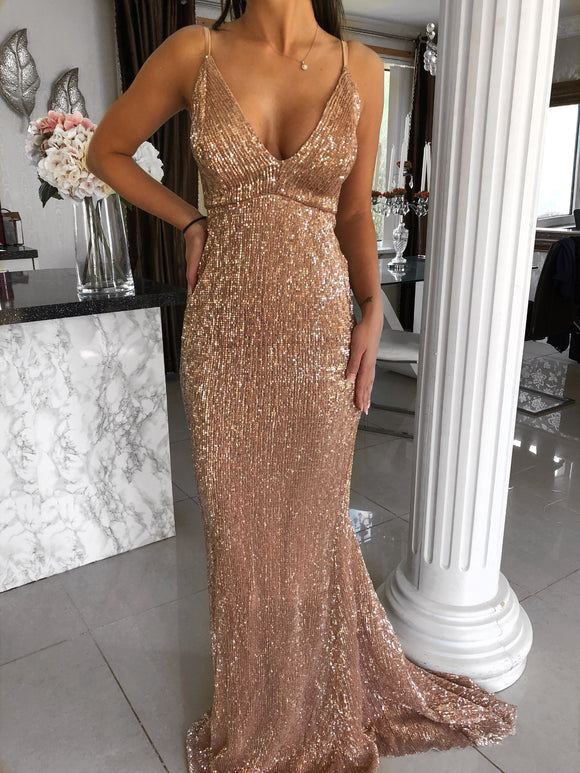 ' DATE NIGHT' Sequin Maxi Dress - ROYA COLLECTION