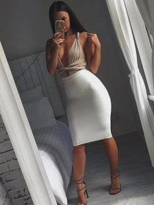 ' MANDY ' Bandage Skirt - White