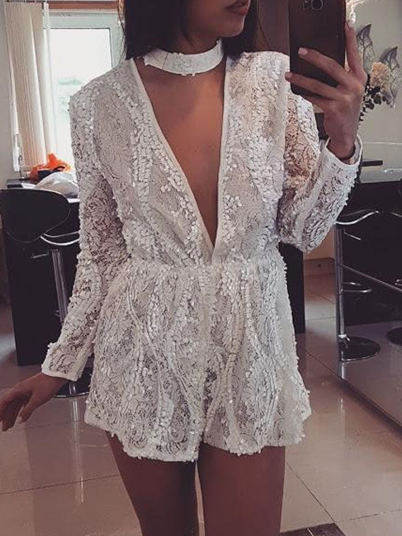 TURN TO YOU Embellished Playsuit