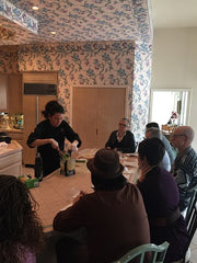 Chantilly's First Cooking Class was a Hit!-- Cups of Tea, Champagne and Recipes