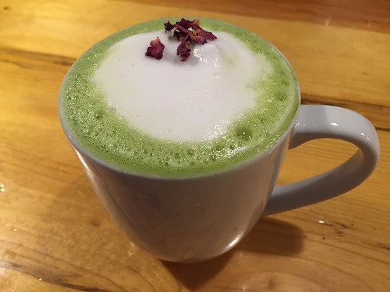 Matcha & Snowfall in Flagstaff