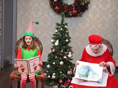 Mrs. Claus & Jingles loved sharing stories at the Carriage House!