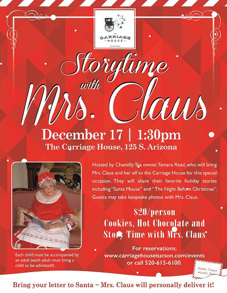 Storytime with Mrs. Claus at the Carriage House