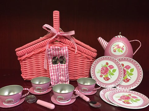Chantilly Tin Tea Set Basket
