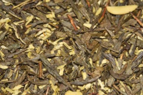 Almond Cookie -Green tea with coconut and almond flakes. 2 oz.