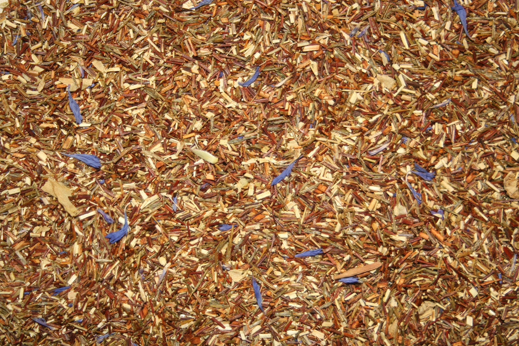 Desert Blossom - Green Rooibos with peach mango taste, cactus flowers and cornflower blossoms.  2 oz.