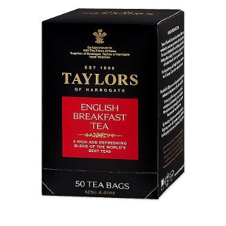 English Breakfast - 50 Bags - Perfect blend of teas from India and Africa. Full-bodied, rich and refreshing with a bright inviting color.