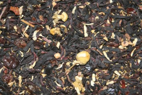 Herbal Prickly Pear - A blend of rosehip, hibiscus and other herbal delights with pieces of prickly pear cactus.   2 oz.