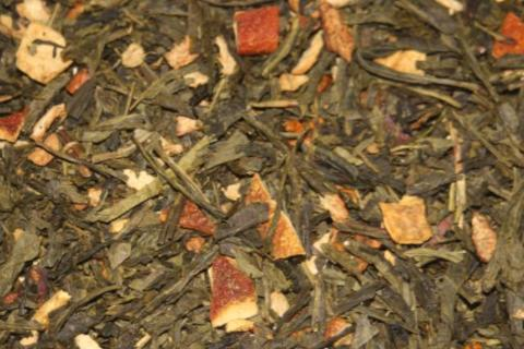 Lemon Ice - China Sencha green tea with apple bits, lemon bits and orange peel.   2 oz.