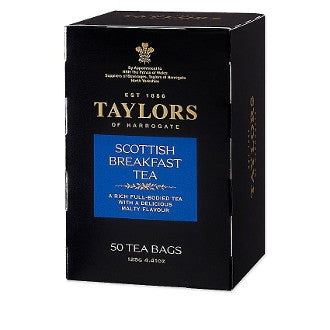 Scottish Breakfast - 50 Bags - Blend of the very best Assam and African teas with an inviting color and a full, rich flavor. Perfect for serving at breakfast time.