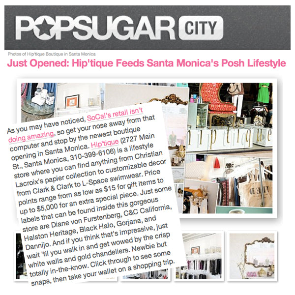 Hiptique PopSugar Feature