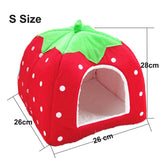 Cute Strawberry Pet Cave